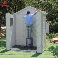 Kinying brand 2018 new high quality simple plastic garden sheds tools easy assembled shed