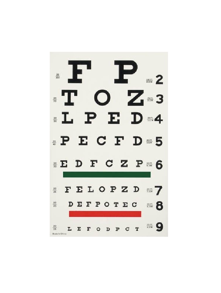 Cheap Chart For Eye Test Find Chart For Eye Test Deals On Line At