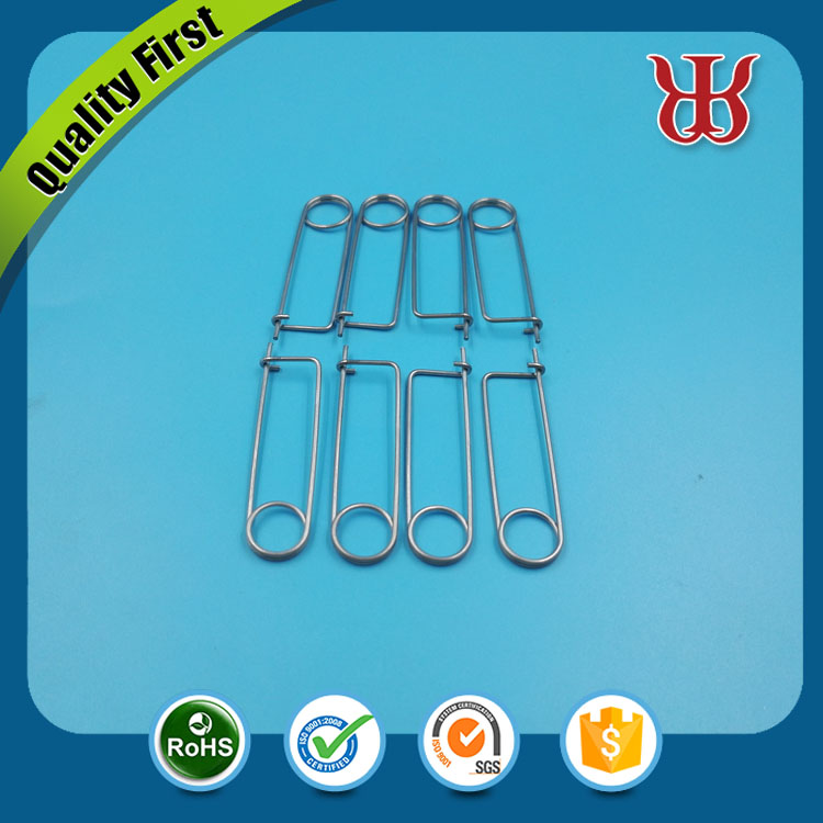 Customized Stainless Steel Spring Clip Spring Wire Safety Pins