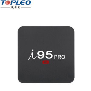 Topleo High efficient commercial I95 Pro 2g ram support 4k HD video output android set top tv box