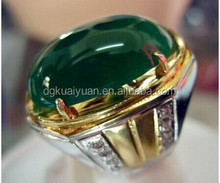 Two Colors Tone Indonesia Titanium Gemstone Rings for Women men Wholesale