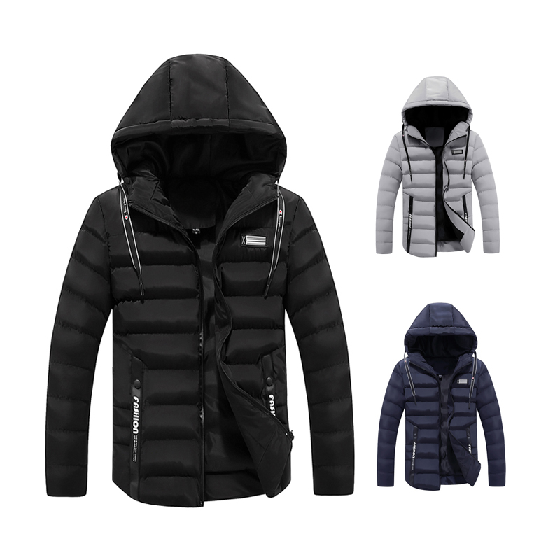 Cheap Warm Down Feather Padded Winter Jacket Coat Mens Wholesale