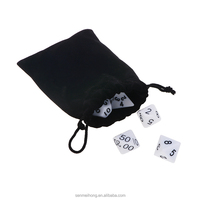 Custom White And Solid 4 6 8 10 12 20 Sided Polyhedral Dice Set