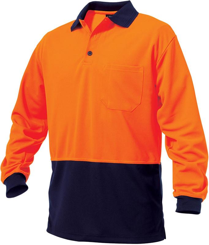 Men's polo shirt 100% cotton Polo T-shirt men women long sleeve