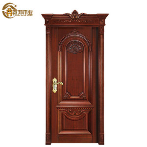 Australia standard antique carved new designs front single leaf wooden frame design marble door