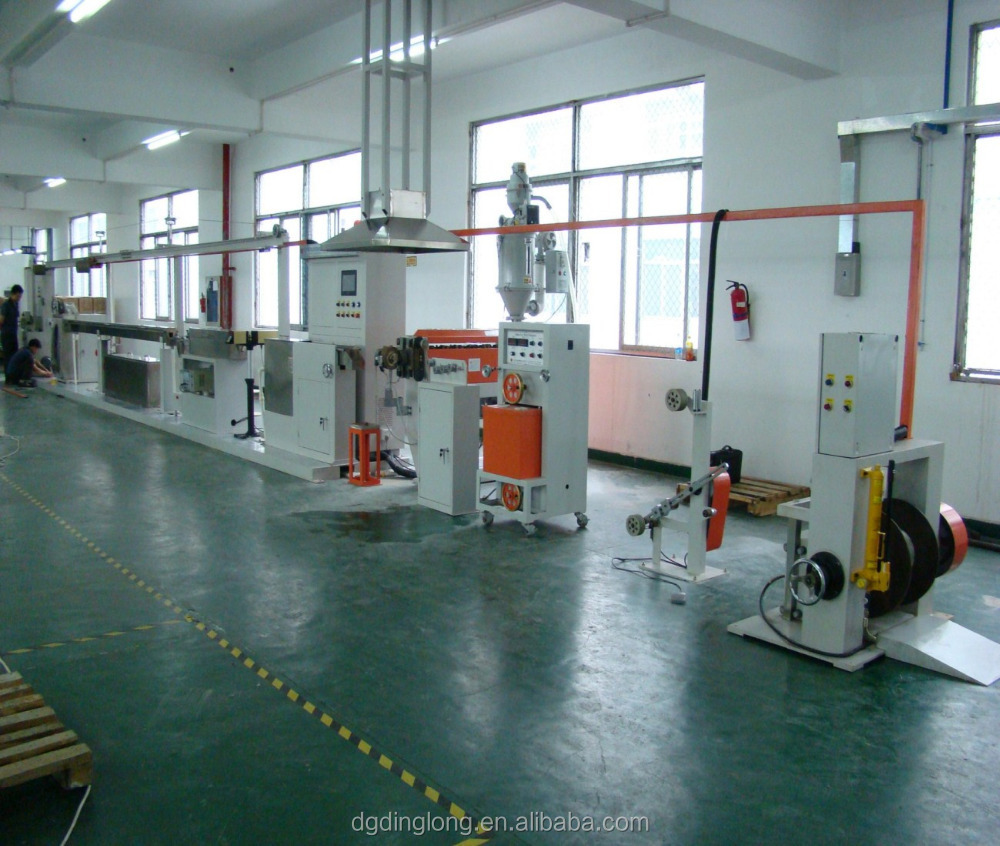 PVC PE PP PA PU Electric Wires Cables Coating Extrusion Machine