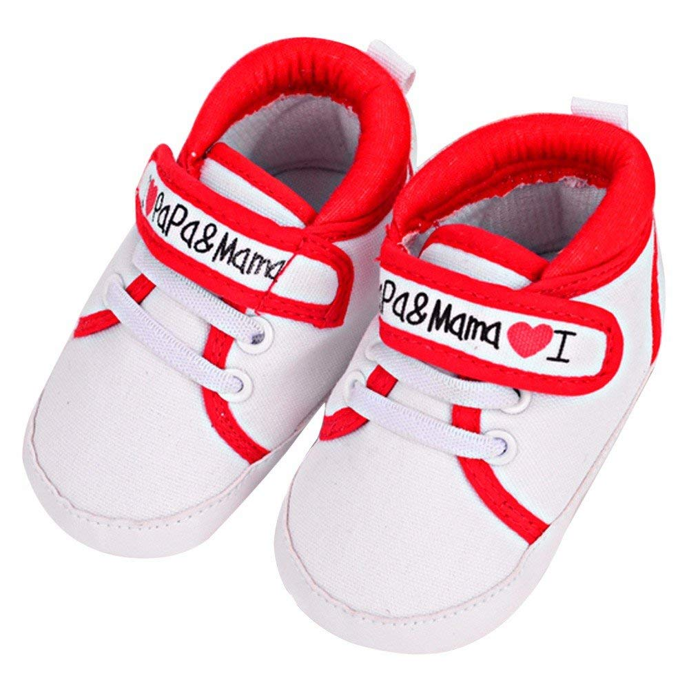 3bb97d8c47e6 Get Quotations · Jshuang Hook   Loop Red Heart Baby Infant Kid Boy Girl  Soft Sole Canvas Sneaker Toddler
