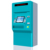 China factory sales ticket Kiosk with Cash and coin payment TICKET vending machine