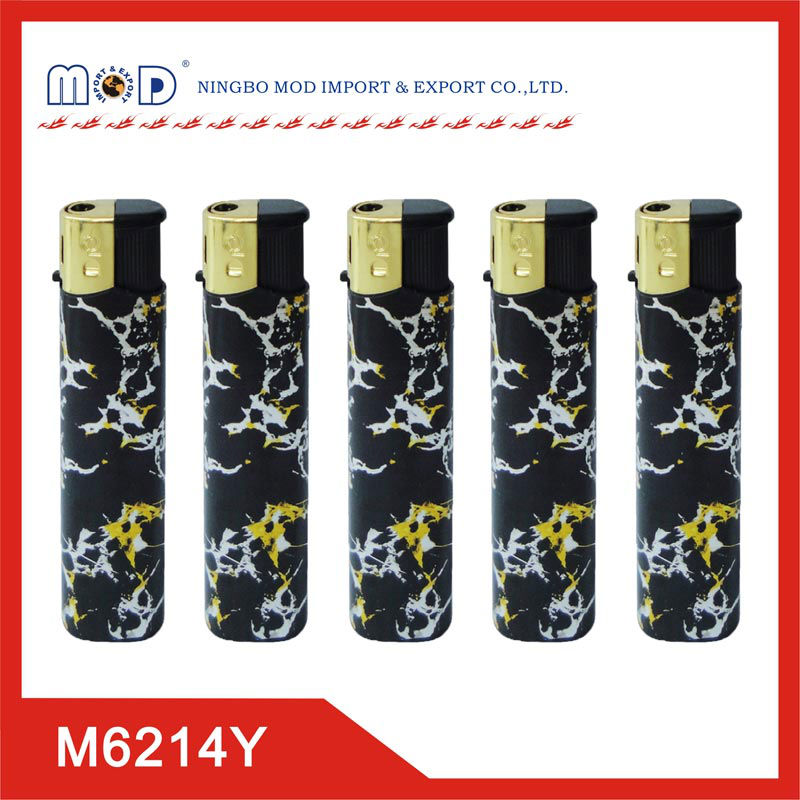 Customized design electronic butane gas lighter