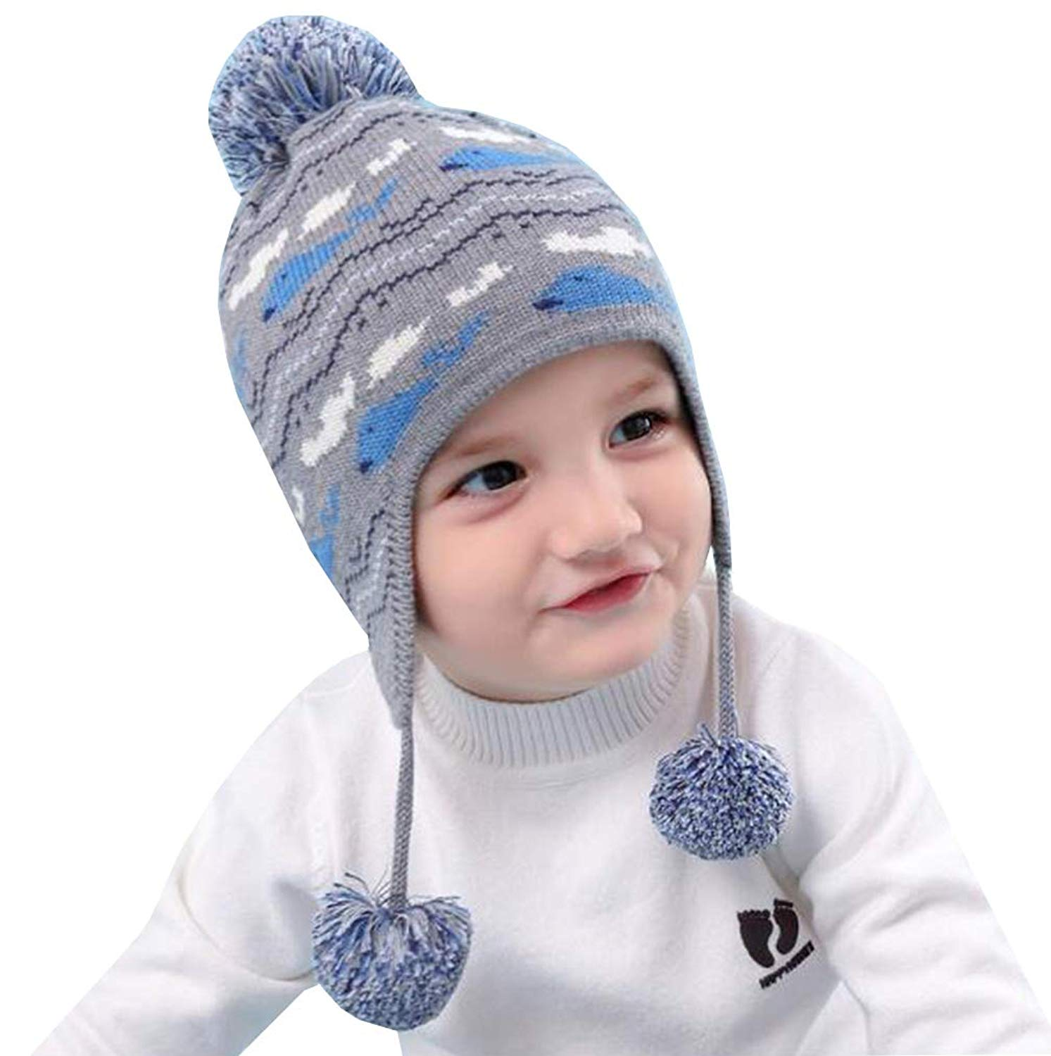 Get Quotations · UQ Toddler Baby boy Girls Cute Winter Whale Knitted Cap  Kid Winter Hats Cotton ( 4d2828ac0e7d