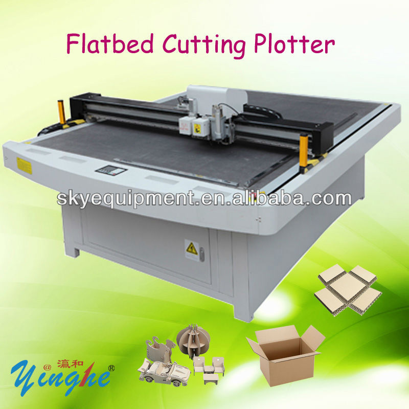 Hard Paper Board Flatbed Cutting Plotter Machine