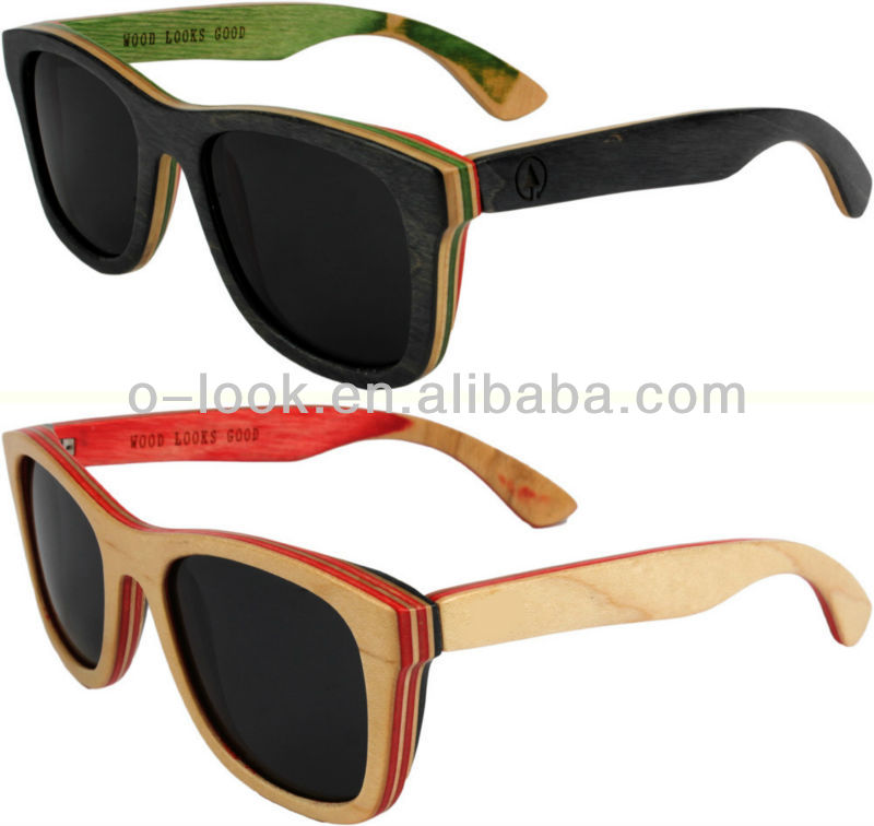 new design sunglasses  New Design Skateboard Wood Sunglasses Canada Maple Wood Sunglasses ...