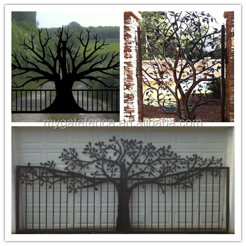 Decorative Garden Entrance Front Modern Laser Cut Gate Design Philippines,  Wrought Iron House Main Gate