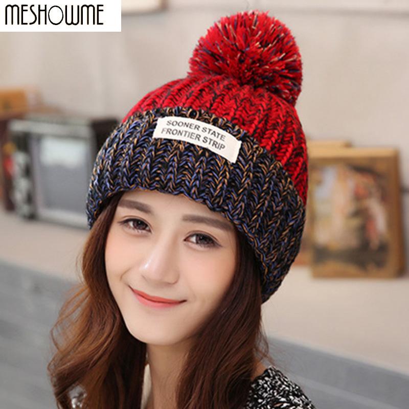153a832ddf3b4 2016 Beanies Bonnet Women s Winter Hats For Women Knit Caps Winter Women s  Hats Brand Ski Mask