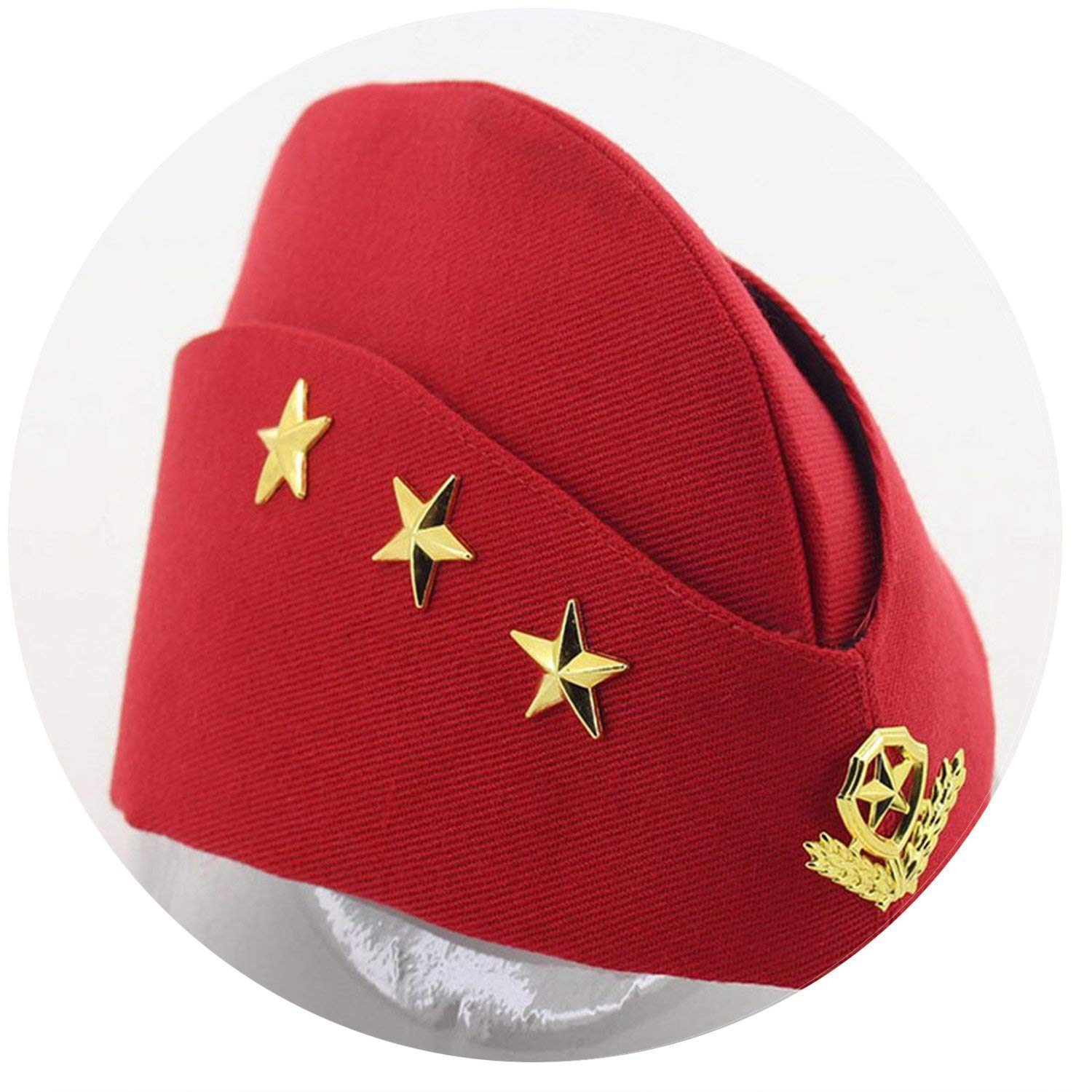 7ce8534c908 Get Quotations · Sailor Hat Square Dance Performance Canvas Boat Hat Army  Fan Stewardess Boat Hat