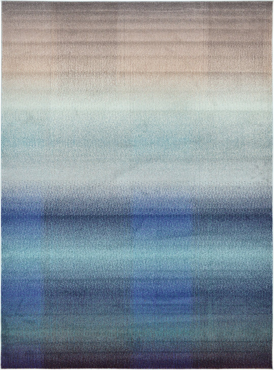 A2Z Rug Modern Mayfair Collection, Blue 8-Feed-by-11-Feed Area Rugs - Contemporary Living & Dinning & Bedroom Carpet