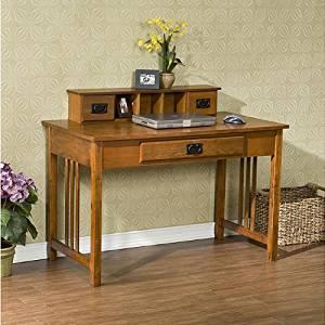 Get Quotations · Metro Shop Upton Home Mission Oak Work Desk Furniture