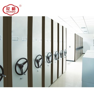luoyang huadu disassembled manual moving compact movable mass shelves electric mobile shelving cabinet