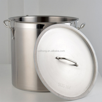 Stainless Steel Large Pot with Lid/ Wholesale Stock Pot with Lock