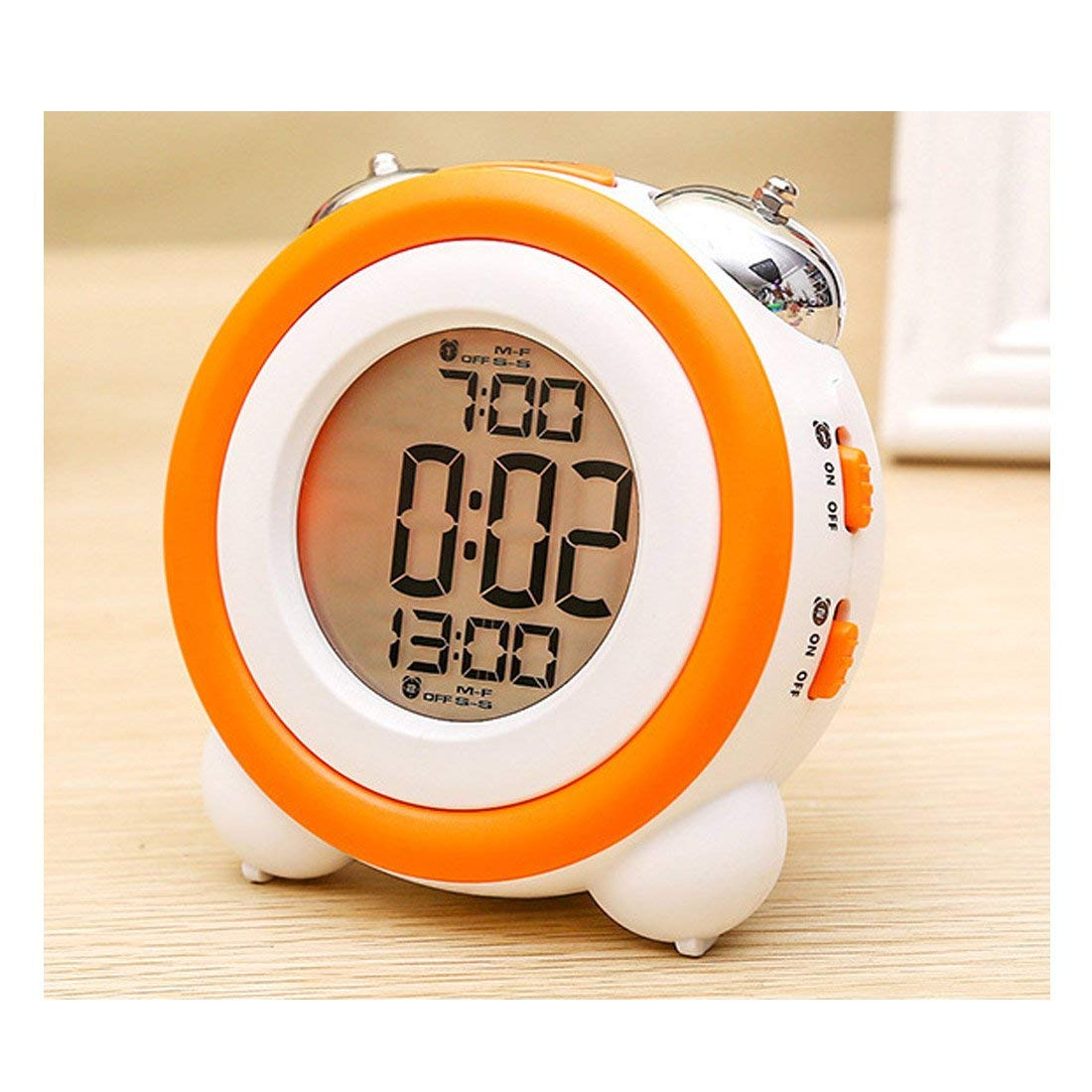 Humorous Alarm Clock Portable Square Shape Mute Timing Alarm Needle Digital Clock House 1 X Aa Battery Home Clock not Include