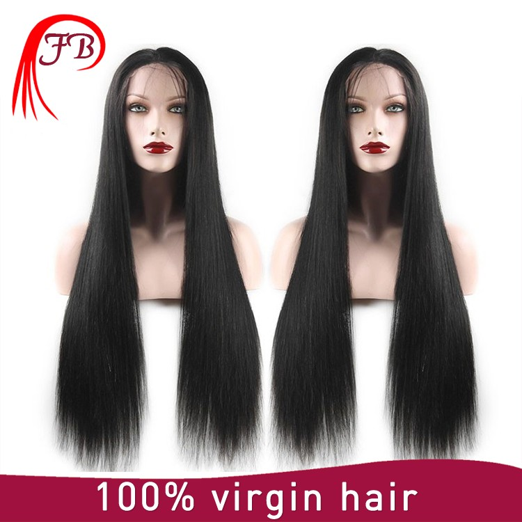 7a 8a grade natual color wholesale natural brazilian hair wigs brazilian virgin hair lace front wig