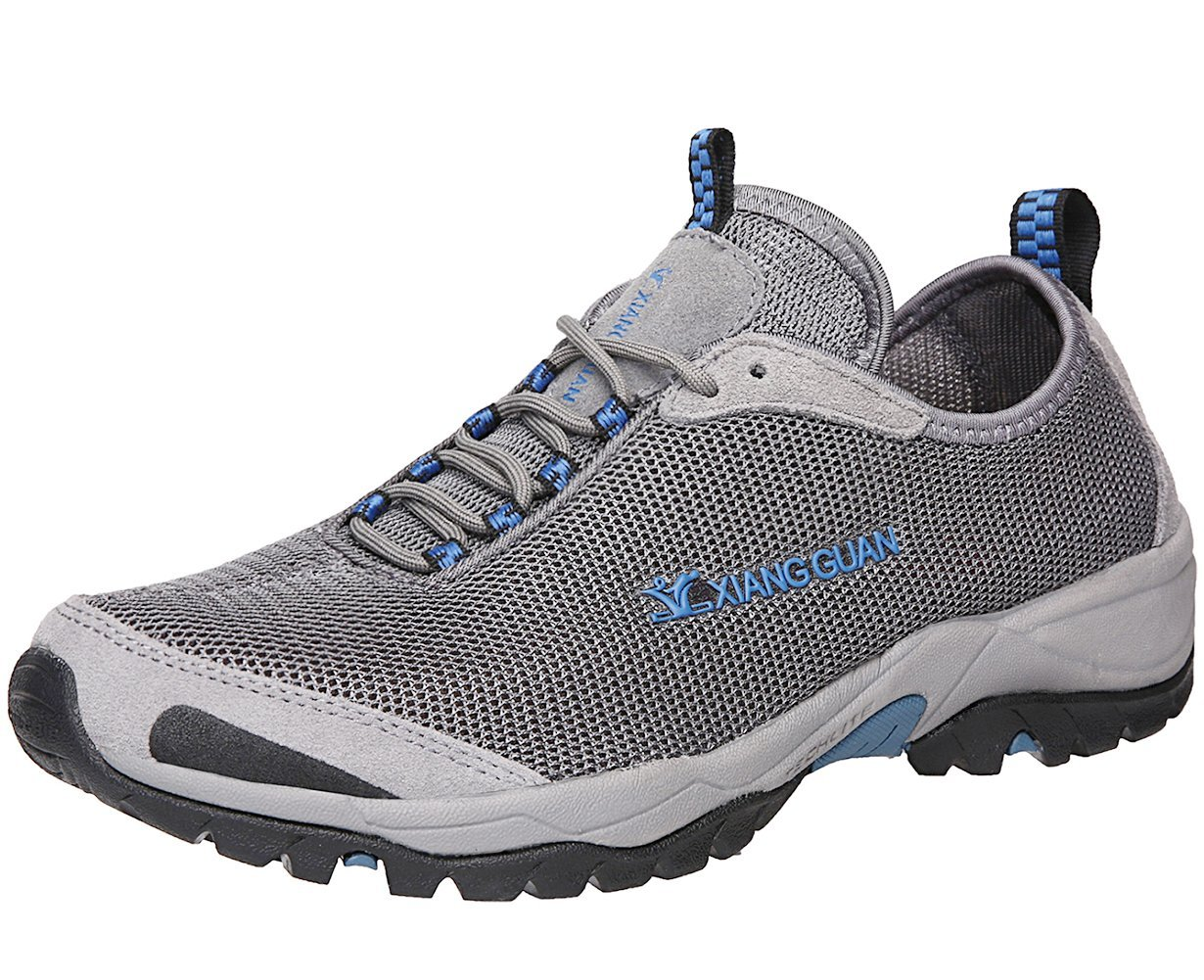 XiangGuan Mens Walking Water Shoes Athletic Sport Outdoor Breathable Light Weight Lycra Mesh Running Shoes