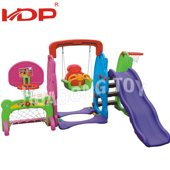 small safe plastic kids slide and swing sets for toddlers