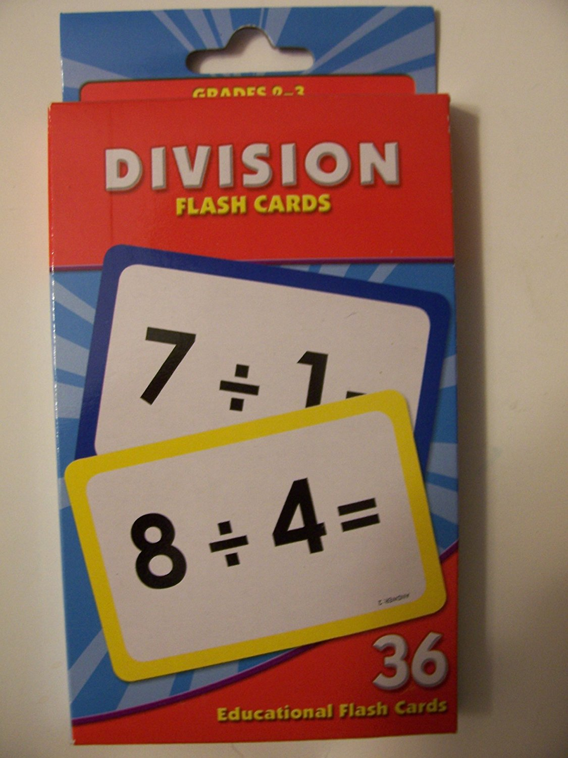 Educational Flash Cards ~ Division (36 Flash Cards; Grades 2-3)