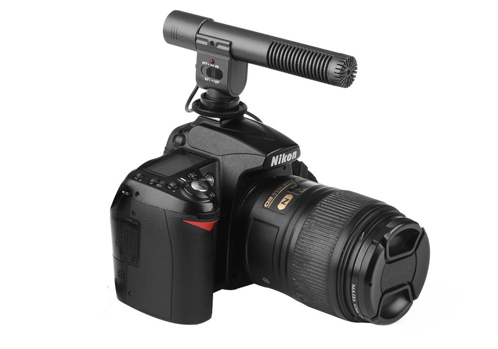 High-Tech Place SHENGGU SG-108 Stereo Microphone for DSLR DV Camera - 30-18000Hz Frequency Response, 2 Sound Pick-Up Modes