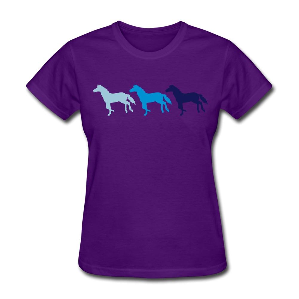 Slim-Fit-Womens-TeeShirt-Three-Horses-Cool-Logo-Women-s-T ...