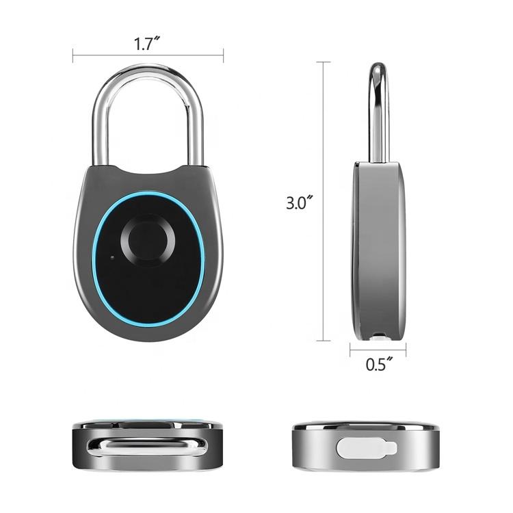 Fingerprint Padlock  Keyless Metal Waterproof IP54 Portable Security Lock Anti-Theft Padlock