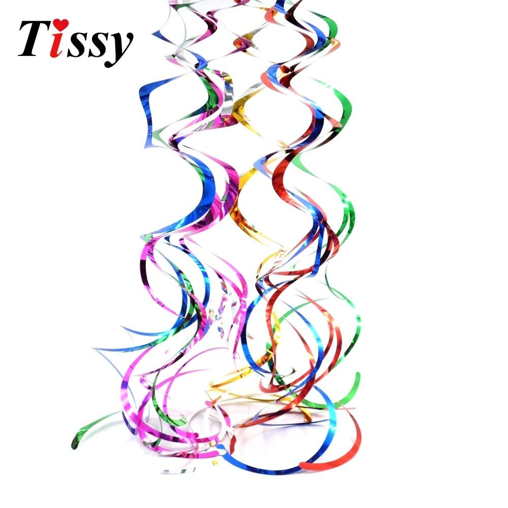 get quotations party favors wedding decoration party hot6pcs ceiling hanging swirl metallic party favors home