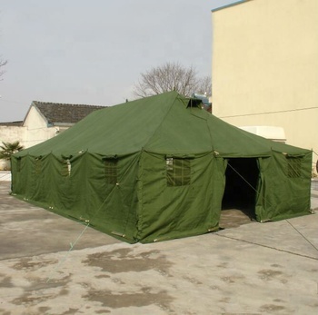 waterproof canvas steel pipe 20 person military tents for sale