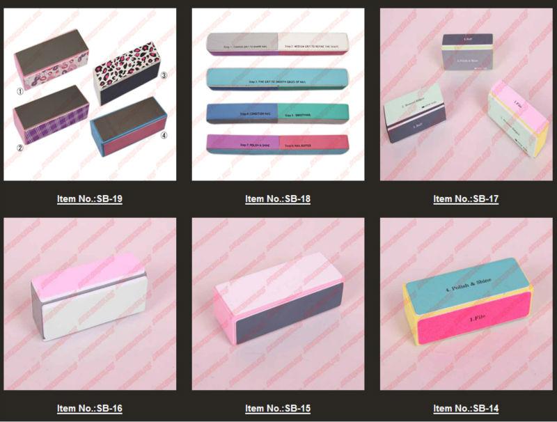 Wholesale !!! 4way Emory Board Nail Art Files Buffer Block Manicure ...