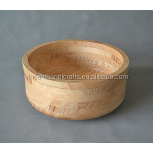 Unfinished Solid wood serving bowl, small handmade carved wood bowl