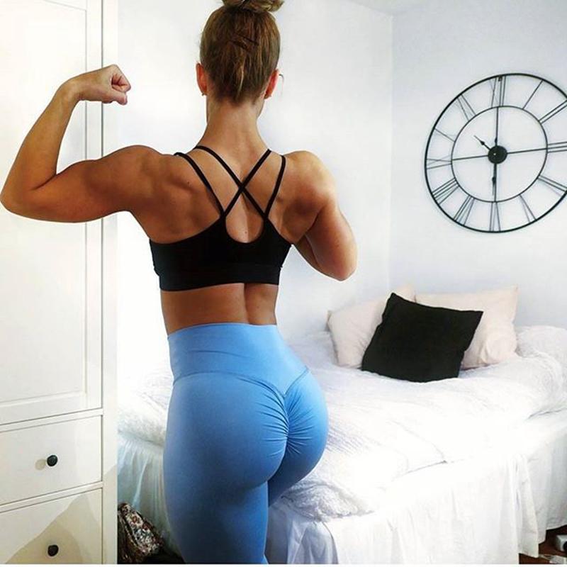 2019 heißer Sommer neue ankünfte sexy strappy gym sport bh und shorts set für damen