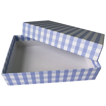 OEM custom printing navy blue christmas cardboard gift box manufacturer from China