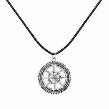 2017 New Slavic Amulet Svitovit Viking Pendants For Necklace Pagan Cord  Rope Leather Norse Jewerly Original Man Bijoux Wholesale - Buy Pendant For