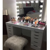 Professional Hollywood lighted makeup mirror