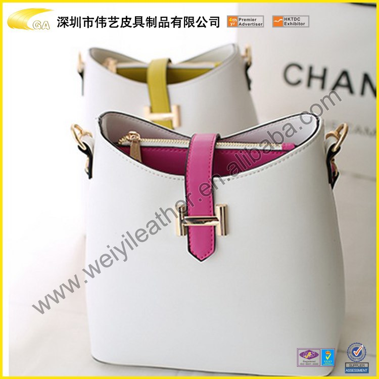 2015 Wholesale High Quality Custom Colorful Cheap Genuine Leather Cowhide Shoulder Bag Women For Ladies Made In China