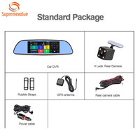Wholesale 7 Inch Touch Screen Mirror Car Camera 3G 1080p Dual Lens 3G Car DVR With CE Certification