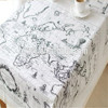 wholesale Linen Cotton world map Printed Fabric for table