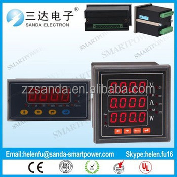 USB Interface Inverter 4-20ma Power meter Ammeter Voltmeter Digital Meter with Panel Mounting