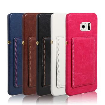 card slot for samsung s6 edge plus case kickstand holder,leathercard slot for samsung s6 edge plus case kickstand holder, leather back cover for galaxy