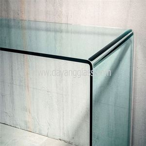 tempered curved glass balustrade casting textured glass for balustrade