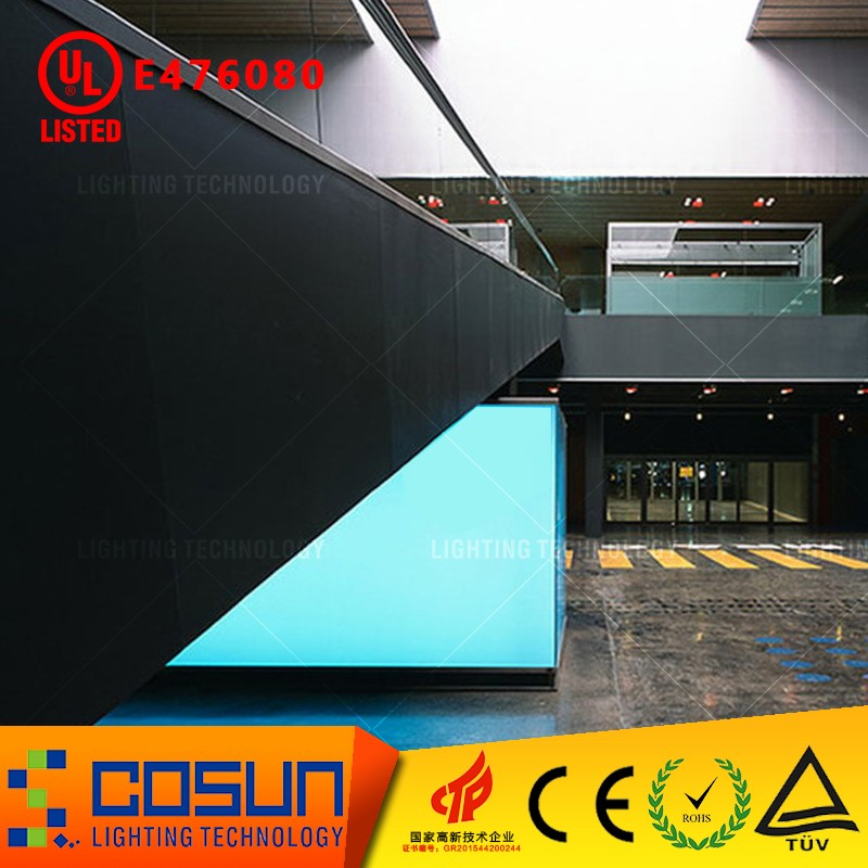 Custom shape UL listed waterproof dimmable RGB led light panel, colorful backlit lumisheet for bar display