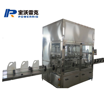 Gear oil filling machine with 8 nozzles