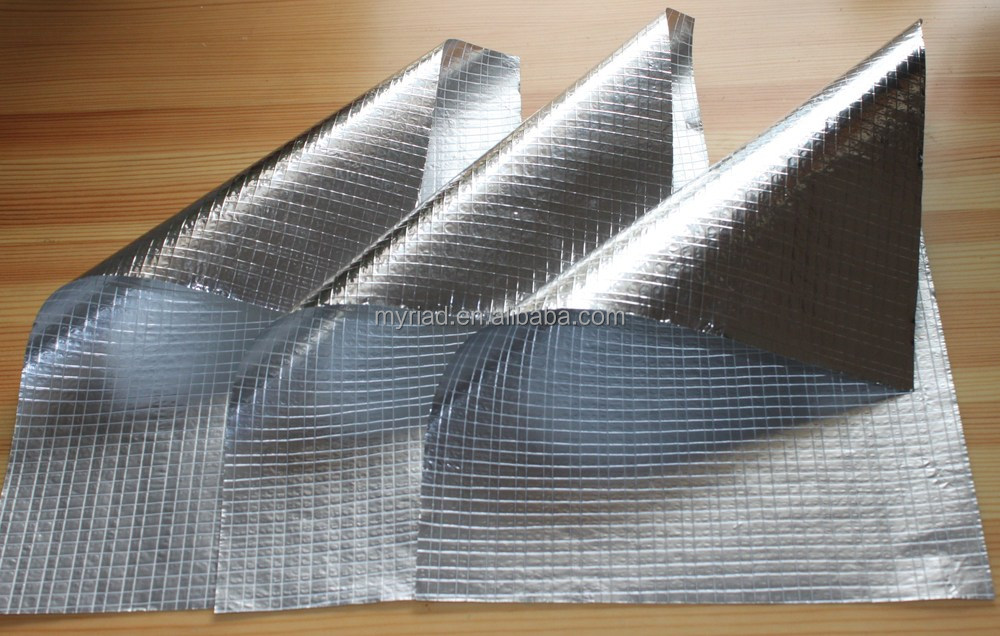 Aluminum Foil Coat Fiber Glass Cloth Roof Insulation Lowes