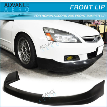 06 07 For Honda Accord 2dr Coupe Front Lip Spoiler Hfp Style Urethane Bodykit