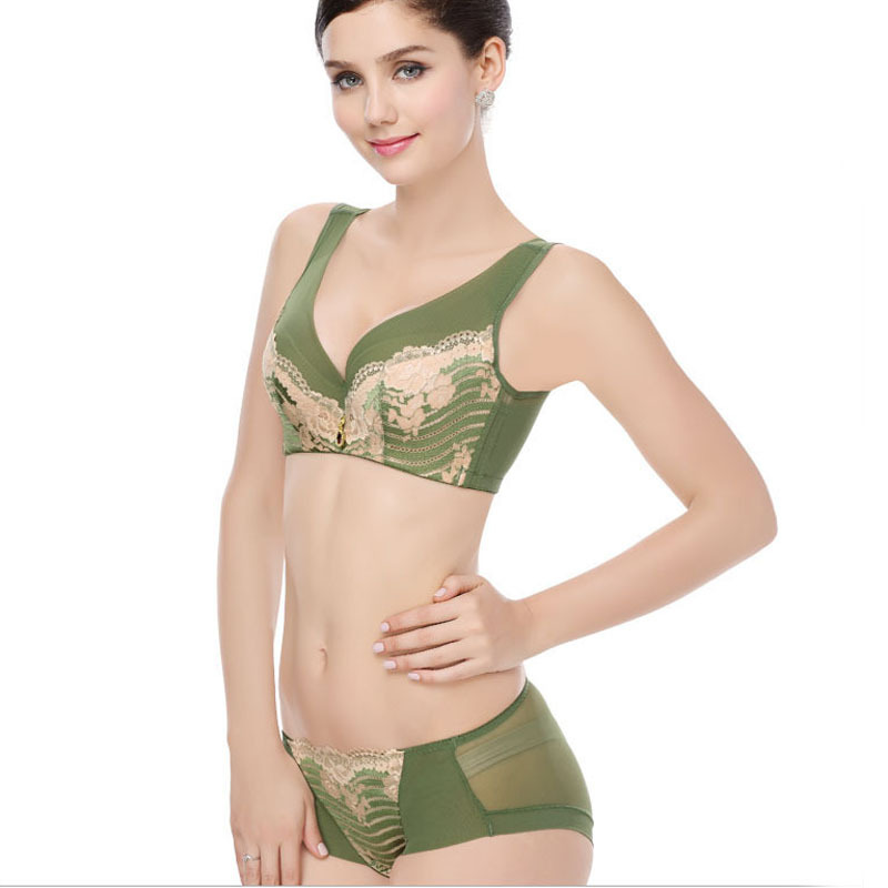 8dd3be4c5f Get Quotations · Sexy Women Bra Set Brief Panty Short Push Up Adjustable  Bras Gather Breast Large Cup B C D
